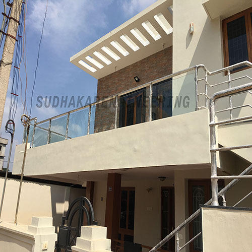 Outdoor Elevation Glass Railing at Rs 2850 /running feet ...