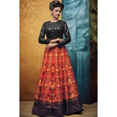 130810d17 Digital Printed Ethnic Wear Designer Girlish Dress