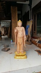 Mahagony Wood Buddha 5ft Tall