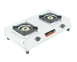 Stainless Steel Silver Two Burner S.S Gas Stove, For Kitchen