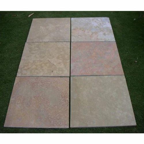 Sawn Mint Sandstone Tiles
