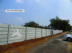 Folding Concrete Boundary Wall Compound