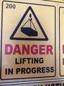 Danger Sign Plate