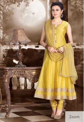 af1a830d7b Anarkali Suits - Anarkali Suit In Yellow Ecommerce Shop / Online ...