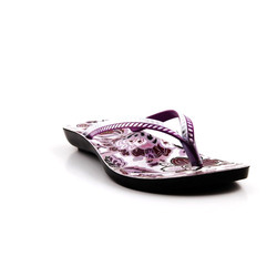 PU Slim Strap Ladies Slipper, Size: 4-8