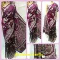 Designer Indian Pure Silk Ethnic Kantha Stitch Saree