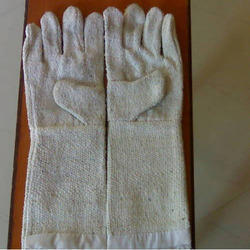 Small Full Finger Chemical Resistant Cotton Non Asbestos Hand Gloves