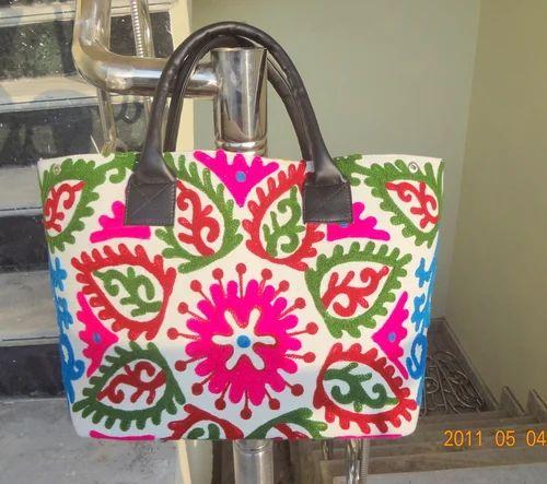 Suzani Embroidered Shopping Bag