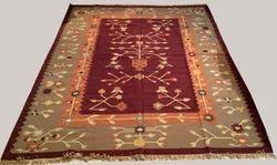 Vimla International Printed Wool Rug, Size: 5 X 8 Feet