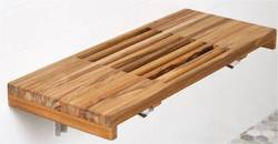 Teak Wood Shower Floating Bench