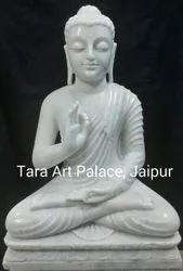 Vitarka Mudra Buddha Marble Statue