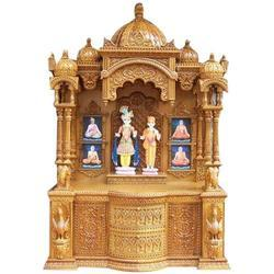 Brown Teak Wood Wooden Temple Rs 85000 Piece Kgm Interiors Id