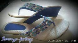 Casual Bonanza footings Blue Gems-3 V-Shape Ladies Footwear
