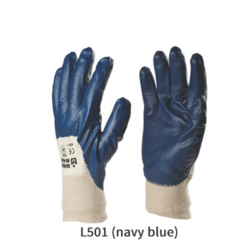 Nitrile Light Coated Gloves with Knit Wrist