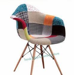 Patch armrest designer chair