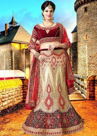 9420db6bcc Maroon Wedding Lehenga Choli at Rs 10500 /piece | Dwarka | New Delhi ...