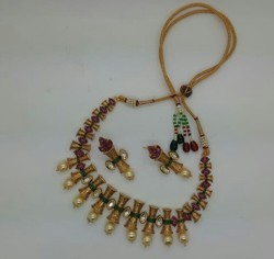 Kundan Set with White Pearl