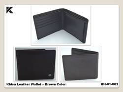 Khisa Leather Wallet Brown Color