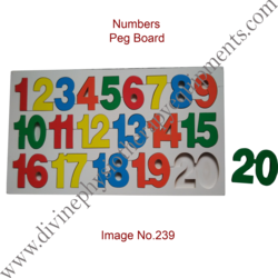 Numbers Peg Board