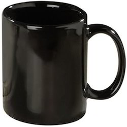 Black Coffee Mug