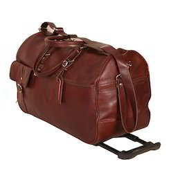 Leather Luggage Trolley Bags