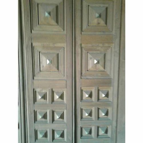 Wooden Fancy Double Door Old Sag Wood Design Door Designer Door