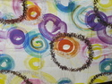 Satin Multicolor Digital Printed Fabric, For Garments