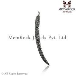 Pave Diamond Bar Shape Pendant