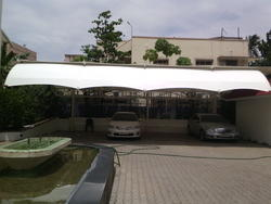 Fiber Car Parking Shed