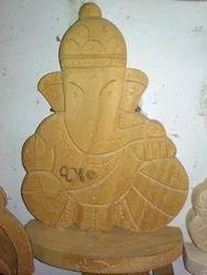 Wooden Art God Statue