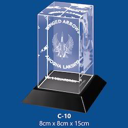 Crystal Cube with Logo
