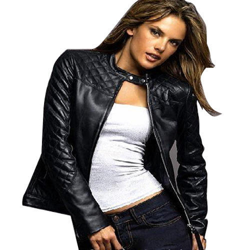 2fcb8d57b46 Black Ladies Leather Jackets