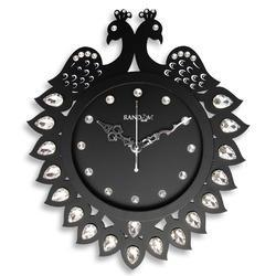 your brand brown Wooden Peacock Premium Wall Clock