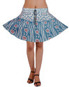 Womens Block Print Mini Skirt