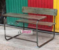 Iron,Wood Brown Retro Wood Industrial Furniture