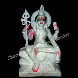 Shiv White Marble Sculpture
