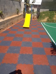 Children Play Area Interlocking Rubberized Tiles