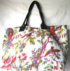 Bird Print Kantha Bag