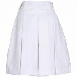 White School Uniform Skirt