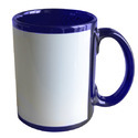 Sublimation Dark Blue Patch Mug