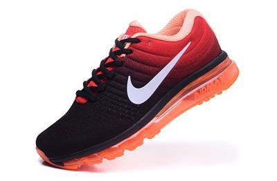 Nike Air Max Mens Black Orange Imported Sport Shoes