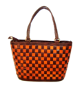 Checkered Leather Bags