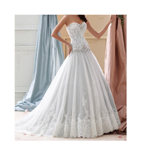 a60f9b5915be Christian White Stylish Wedding Gown, Rs 25000 /piece, Lydia ...