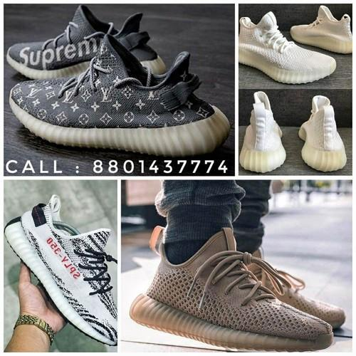 d2094f65b030 Doubledozed White And Brown Yeezy Shoes Sneakers Casual Footwear