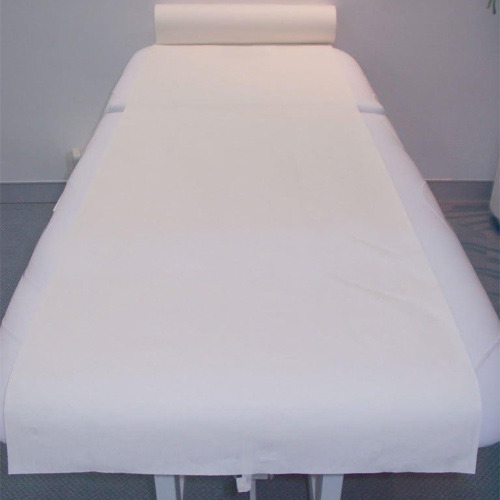 White PP Non Woven Disposable Spa Bedding Sheets