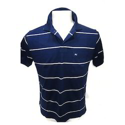 Half Sleeve Blue, White Polo Mens T-Shirts, Packaging Type: Packet
