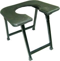 U- Cut Chrome Pipe Albio Commode Stool