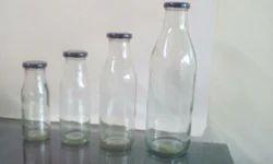 Milk Bottle Glass with Luc Cap 200, 300, 500, 1000ml, Capacity: 500ml