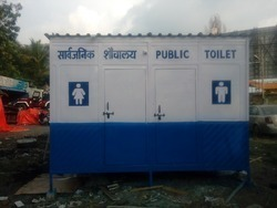 FRP Toilet Cabin with Male and Female Section