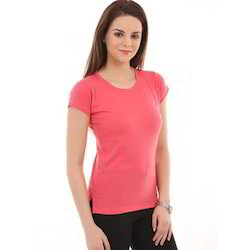 Ladies Fancy Round Neck T-Shirts